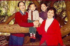 Julie, Olivia, Margot and Olga, Julie's mother